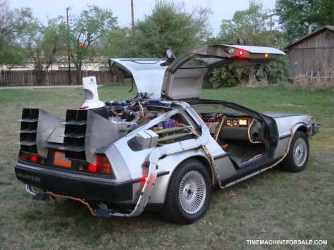 Delorean in the driveway: Back to the Future!
