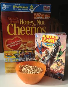 Honey Nut Cheerios with DC Comics