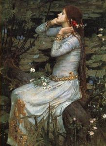 """Ophelia"" by John William Waterhouse http://www.jwwaterhouse.com/"
