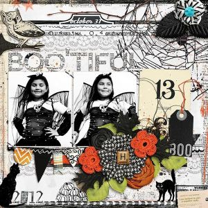 Crafty Time: Halloween Scrapbook Page