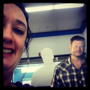Me & Blake Shelton. Just for fun