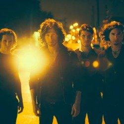 Nothing More (l-r)  Paul O'Brien (drums), Jonny Hawkins (lead singer,drums), Daniel Oliver (bass, backing vocals), and Mark Vollelunga (guitar, backing vocals)