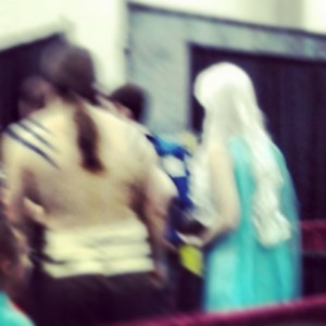 Khal and Khaleesi. I get so bored waiting in line sometimes.