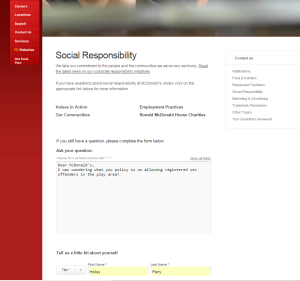 Social Responsibility    McDonalds.com