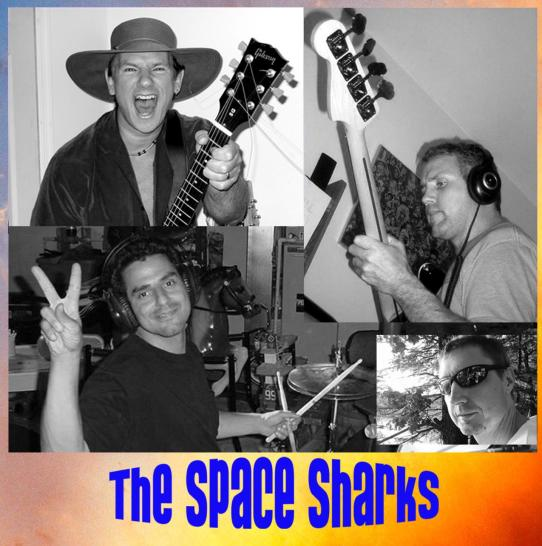 The Space Sharks Band Montage With Logo_1